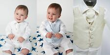 Baby Boys 4 Piece Christening Outfit / Christening Suit Check