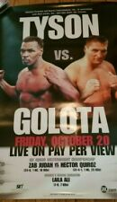 Mike Tyson vs Andrew Golota official Pay per view fight poster