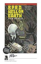 Mike Mignola Hellboy SIGNED Comic Art Print BPRD Dark Horse Promo Hell on Earth