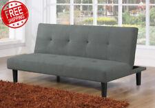Sofa Cama Convertible Futon Microfibra Mueble Cojin de Alta Densidad Ajustable
