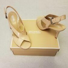 Michael Kors Womens Slingback Sandals 8 Beige Stilleto Becky Oyster New in Box