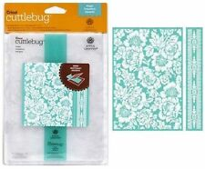 CRICUT CUTTLEBUG 5X7 EMBOSSING FOLDER & BORDER SET ~POPPY
