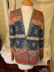 VTG EXCLUSIVE Lauren Ralph Lauren HAND Knitted Sweater Size L SEE OUR COLLECTION