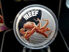 "2012 Australia Sea Life ""OCTOPUS"" 1/2 Oz Silver Proof Box & COA ECC&C, Inc."