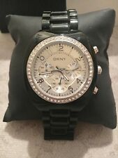 DKNY watch NY4783 Black/Silver Bracelet Chrono with Crystals Women's
