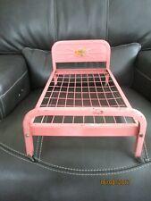Vintage 1950s Metal Doll Bed Pink