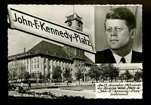 Political President real photo postcard RPPC John F Kennedy JFK Berlin Germany