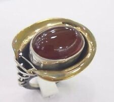 STERLING 925 SILVER HANDCRAFT JEWELRY FABULOUS FIRE AGATE LADY RING SIZE 7