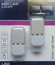 Müller-Licht 2x LED Leuchte Schubladenlicht Schranklicht Bewegungsmelder Sensor