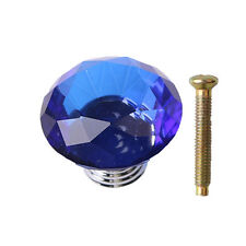 30mm 40mm 50mm Diamond Glass Crystal Door Drawer Cupboard Cabinet Pull Knobs
