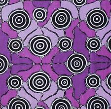 AUSTRALIAN ABORIGINAL QUILTING FABRIC - GRANDMOTHER'S JOURNEY PURPLE by FQ & MTR