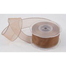 Topo Hongo Organza Cinta De Tela 38 mm (1.5 pulgadas) Full 20m Roll por cable borde del Reino Unido
