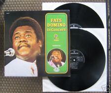 2 LP GATEFOLD FATS DOMINO - IN CONCERT / BLUEBERRY HILL / excellent état
