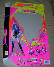 SYNERGY  JEM TRULY OUTRAGEOUS  BOX ONLY  HASBRO  1986
