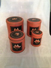 House of lloyd brown metal canisters  nesting set 1990 set of 4