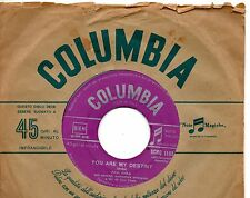 PAUL ANKA disco 45 g. MADE in ITALY You are my destiny + When i stop loving you