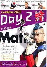 PARALYMPIC GAMES DAY 2 TWO DAILY PROGRAMME LONDON 2012