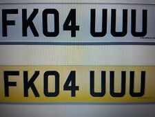 cherished number plate private plate cheeky (FK YOU)   FK04 UUU    funny