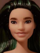 FASHIONISTA  #110 TALL FASHIONISTA BARBIE DOLL NUDE BLACK & GREEN HAIR
