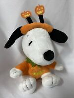 "Hallmark Snoopy Peanuts Halloween 7"" Snoopy Plush Stuffed Orange Pumpkin Costume"