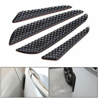 4Pcs Carbon Fiber Car Door Edge Guard Scratch Protector Anti-collision Strip UK