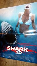 SHARK 3d ! affiche cinema jaws , requin ,