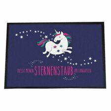 Fußmatte Türmatte Einhorn Fresst meinen Sternenstaub Ihr Langweiler 40x60 cm Ges