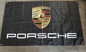Mint Porsche Graphite Car Flag Banner 3x5 ft Sports Car 911 GT3 Boxster Carrera