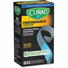 "Medline Performance Antibacterial Bandages .75""x4.75"" 20/Bx Ast Cur5019"