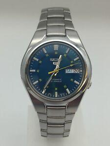 Seiko 5 Automatic Blue Dial Silver Steel Men's Watch SNK615K1
