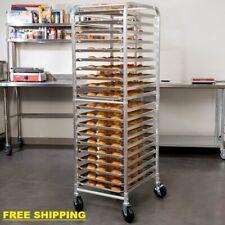 20 Pan End Load Bun Commercial Dough Baking Full Sheet Pizza Bakers Speed Rack