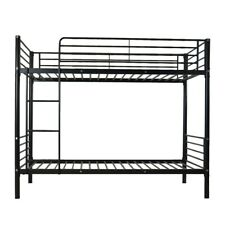 bunk bed Twin Metal Bunk Beds Twin over Twin Bunk Bed Frame Black