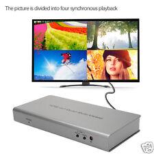 1080P DC 4x1 HDMI Quad Multi-Viewer Converter + Seamless Switcher+Remote Control