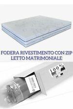 FODERA MATERASSO MATRIMONIALE CERNIERA ZIP 160X190 BIOCERAMICA FIR MADE IN ITALY