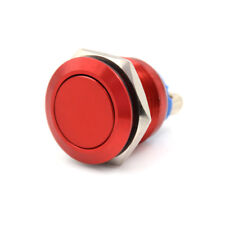 1PC 16mm waterproof red momentary metal push button switch flat top TDIJ