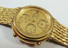 Lassale by Seiko Gold Tone Stainless Steel 7T32-6A40 Sample Watch NON-WORKING