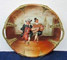 "Pattern Peasant Musicians By Royal Bayreuth Platter Cabinet Plate 11"" BY 10"""