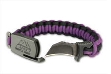 NEW Outdoor Edge Small Purple/Black Para-Claw Paracord Knife Bracelet Survival