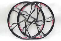 "26"" MTB Bike Mag Magnesium Wheel Set Rims Disc Brake 8/9/10 Speed W/QR"