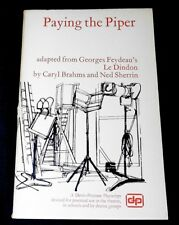"""Paying The Piper"" Brahms/Sherrin, paperback, 1972 Davis-Poynter Playscript"