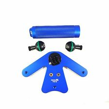 ScubaLamp TG15 Pistol Grip for Underwater Camera Gopro Mount Flex Arms BLUE