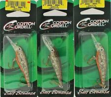 (3) Cotton Cordell 2 Inch Minnow Crawfish Crankbaits Brand New In Pack
