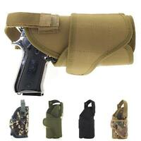 Molle Tactical Waist Pistol Holster Adjustable Righthand Solid Gun Holster Pouch