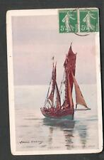 Les Sites de France Louise Abbema art post card to Miss Camille Tenney New Haven