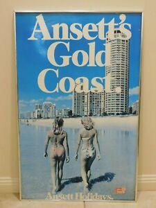 Vintage ANSETT- GOLD COAST Framed Travel Poster