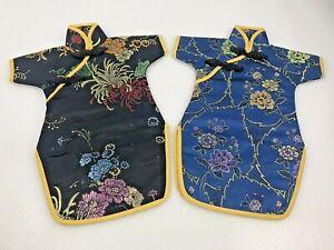 TWO Ready to Frame Asian Cheongsam Dresses Doll Girls Kimono Chinese Japanese