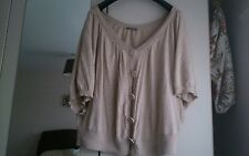 Womens size 24 beige cardigan from South, used, batwing style sleeves