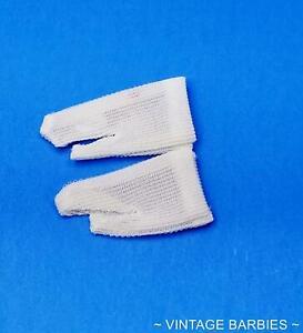 Barbie & Skipper Doll White Short Tricot Gloves MINTY ~ Vintage 1960's