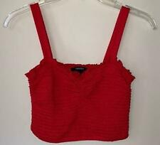 Forever 21 red smocked crop top  - Size Small