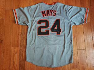 Willie Mays Signed San Francisco Giants Custom Jersey Size XL Say Hey Hologram